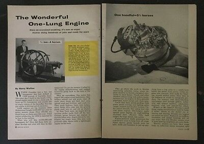 One Lung Engines 2 cycle 4 cycle 1958 History pictorial Smith Motor Wheel
