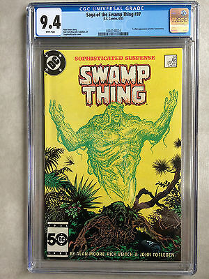 Saga of the Swamp Thing #37, CGC 9.4, 1st appearance of John Constantine