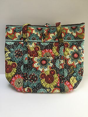 Disney Parks Vera Bradley 'Perfect Petals' Tote Shoulder Carry Bag Mickey Mouse
