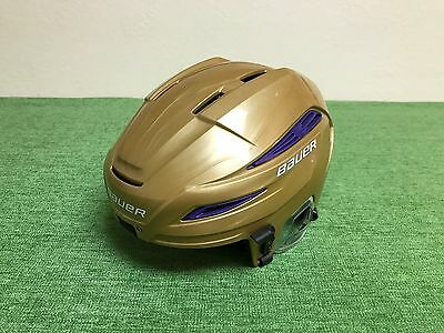 NICE Gold & Purple BAUER IMS 11.0 Hockey HELMET Senior MEDIUM Clean Used ICE NHL