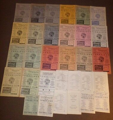 1960's TONBRIDGE Home Programmes x30