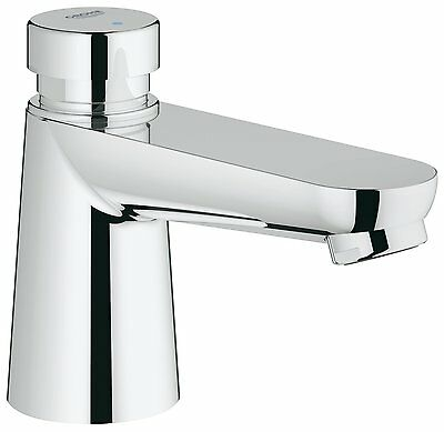 GROHE 36265000 Euroeco Cosmopolitan T Self-Closing Pillar Tap - Chrome - New