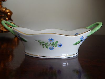 Herend Hungary Hand Painted Twin Handled Basket / Dish