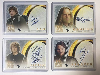 12 x Topps ROTK LOTR  Autograph Auto Card Return Of The King Lord Of the Rings