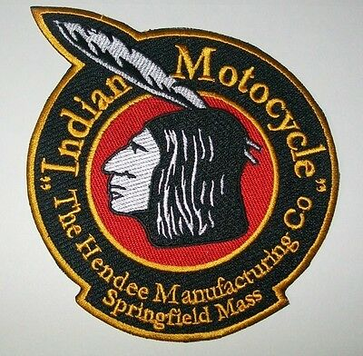 """Indian motorcycle 5"""" Hendee patch.BLACK. NICE!! NEW"""