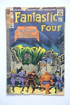 Fantastic Four Vol 1 #39 Jun 1965  Marvel Silver Age Comic Daredevil/ Dr Doom