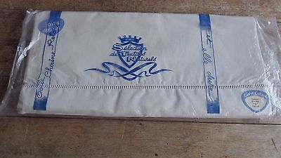 French Vintage Toile Linen & Cotton Sheet  Ladder Work Trim L 310 cm x W 220 cm