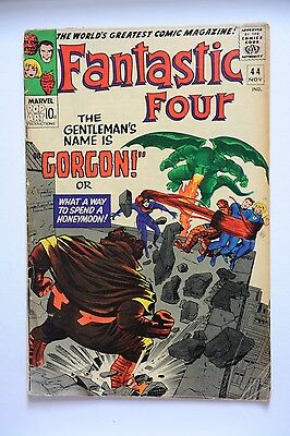 FANTASTIC FOUR VOL 1 #44 NOV 1965 SILVER-AGE MARVEL COMIC 1st GORGON app MEDUSA