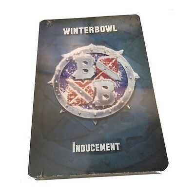 Winterbowl inducement cards for bloodbowl