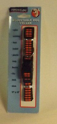 Paws-N-Claws 10 to 16 Inch Neck Size Adjustable Nylon Dog Collar