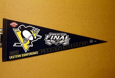 2017 Pittsburgh Penguins Eastern Conference Champs Stanley Cup NHL Pennant