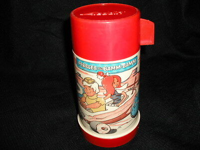 1971 The Flintstones Pebbles and bam Bam Thermos for Metal Lunch Box * Vintage