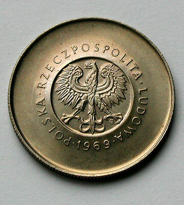 1944-1969 POLAND Coin - 10 Zlotych - UNC - toned lustre - people's republic 25th