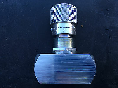 "Hydraulic Needle Valve Two Way 1/4""BSPP, 400 BAR/5800 PSI,15 L/MIN"