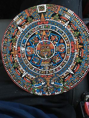 Aztec Mayan Calendar. Vintage Piece Made From Volcanic Rock.