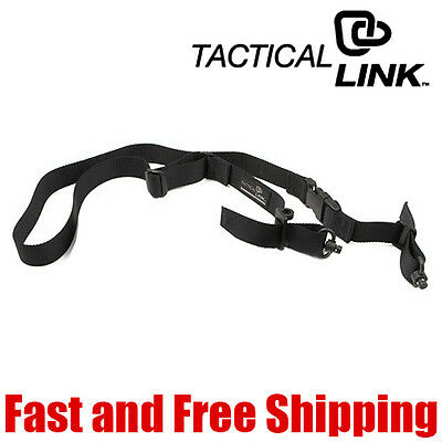 Tactical Link QD 1 Point & 2 Point Convertible Quick Detach Tactical Sling Black