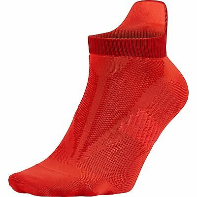 NEW Nike Elite LightWeight No-Show Tab Bright Crimson/Red Socks Men's 10-11.5