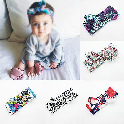 Kid Girl Baby Toddler Elastic Bow Flower Headband Hair Band Headwear Accessories