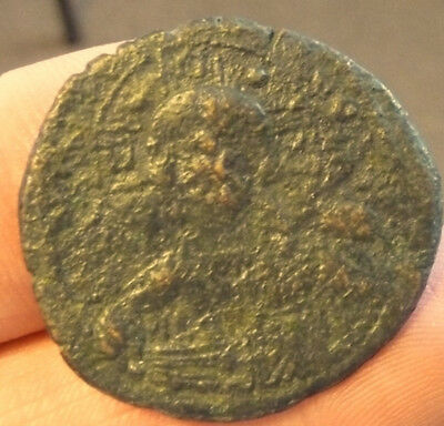 Romanus III 1028AD Authentic Ancient Large Rare Byzantine Coin Jesus Christ  #A