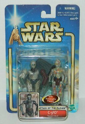 Star Wars C-3PO Protocol Droid Action Figure 2002 HASBRO #84856, SEALED MIB