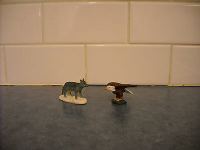 Fantasy Breyer Stablemate Rare Bald Eagle Figurine Spirit Play Set & Blue Fox
