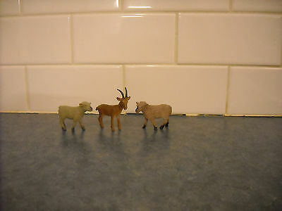 Lot Toy Mini Farm Animal Curly Sheep Goat Breyer Marx Ohio Art Safari Schleich