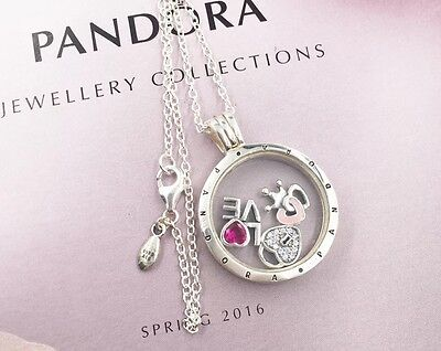 Luxurious Xmas Gift Pandora Floating Locket With Forever Hearts Petites Elements