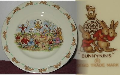 """Rare Vintage 1967 Royal Doulton Bunnykins 8"""" Plate New,Limited 3-Year Production"""
