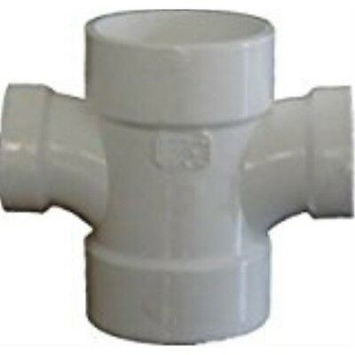 Genova Products 73542 4X2 Double Sanitary Tee Schedule 40 Pvc-Dwv Fittings