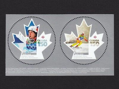 ca. CANADA 150 Celebration OLYMPIC, PARALYMPIC GAMES ms stamps, MNH Canada 2017