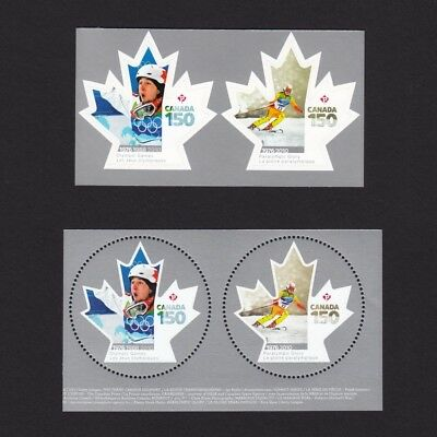 ca. CANADA 150 OLYMPIC, PARALYMPIC GAMES BKLT & MS stamp pairs, MNH Canada 2017