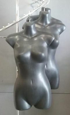 3x Black Female Hanging Body-forms
