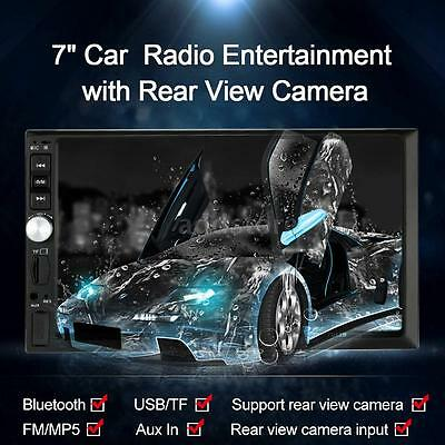 "7"" Universal 2Din HD Car Radio MP5 Player Bluetooth Radio +Rear View Camera Y1M0"