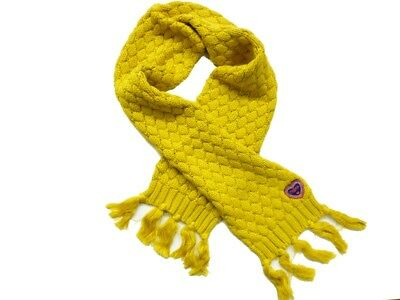 MEXX Winter scarf for girls lemon curry Size 74/80 86/92