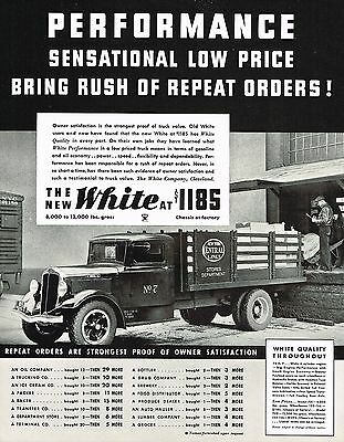 1934 BIG Vintage White Truck New York Central Railroad Lines Photo Print Ad