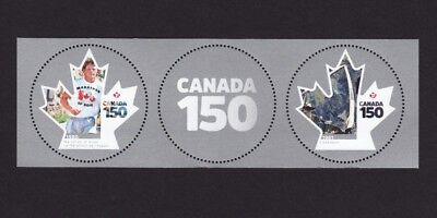 ca. CANADA 150 MS pair with midd tab SPACE, MARATHON OF HOPE MNH Canada 2017
