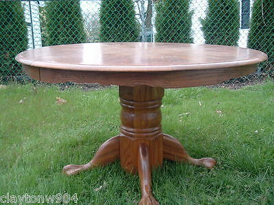Vintage Round Oak Dining Table