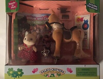 Calico Critters CC1498 Willow and Carly at the Horse Show