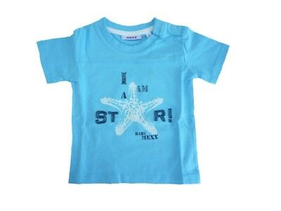 Mexx Baby Short-Sleeved T-Shirt Radiant Blue for Boys sz. 62 68