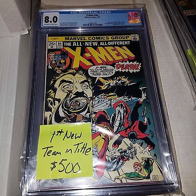 Uncanny X-Men #94, 1st Appearance of New Team in Title, CGC Graded 8.0