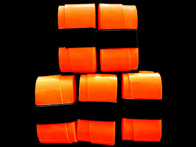 5 Fluro Orange Replacement Overgrips over grip tennis soft top quality pro grip