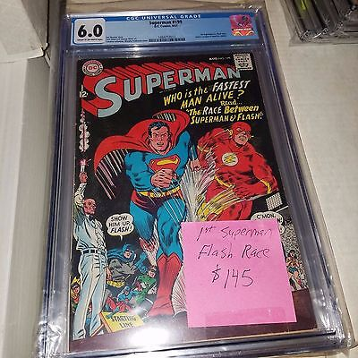 Superman #199, 1st Superman vs Flash Race, CGC Graded 6.0