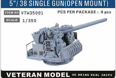 "VETERAN VTW35001 1/350 5""/38 SINGLE GUN (OPEN MOUNT) (4 pcs in Box)"