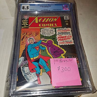 Action Comics #340, 1st Appearance of Parasite, CGC Graded 8.5