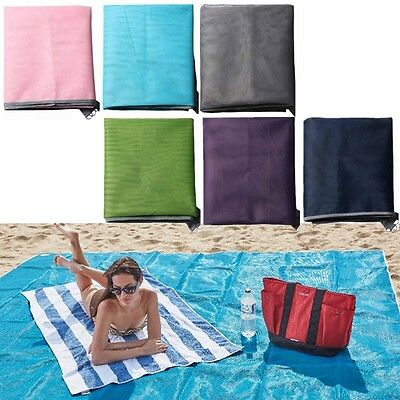 200x150cm Polyester Beach Sand Free Magic Mat Large Outdoor Camping Picnic Pad