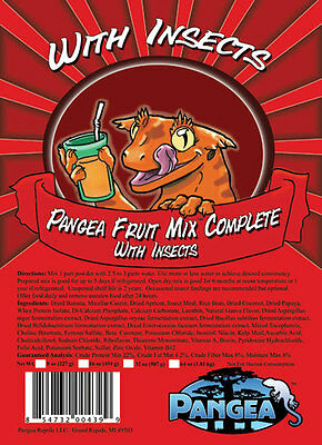 Pangea Fruit Mix Complete Gecko Diet With Insects