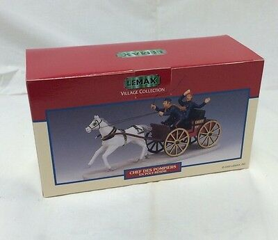 Lemax Village Collection Fire Chief Horse Drawn Wagon Model #03331A Vintage NIB