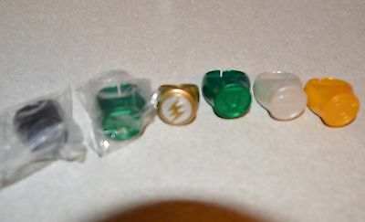 Green Lantern Flash Darkest Night 1:1 scale cosplay rings lot of 6