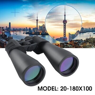 70mm Tube 20x-180x100 Super Zoom HD Outdoor Binoculars Nightvision Telescopes US