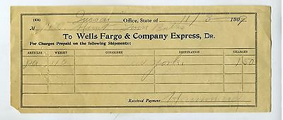 West -  Wells Fargo & Co. Exress Receipt Tucson- Twin Buttes  Arizona  1909